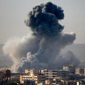 US military air-drops weapons, medical supplies for Kurdish fighters battling Islamic State near Syria's Kobani