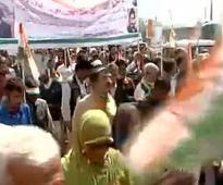 J&K Congress protests against 'unholy' PDP-BJP alliance