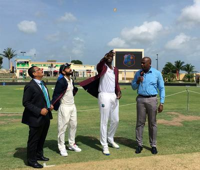 2nd Test: West Indies win toss, elect to bat against India