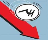 Rupee at 3-month low as domestic shares fall