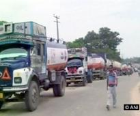 Truckers strike against toll system enters fourth day