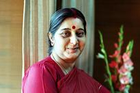 Sushma Swaraj in Nepal on high-priority visit