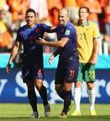 PHOTOS: Oranje scrape past Socceroos in five-goal thriller