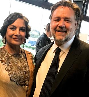 Shabana rubs shoulders with Russell Crowe, celebrates Dangal