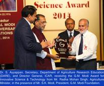 Scientist Dr. S. Ayyappan receives Gujar Mal Modi Award