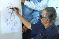 RK Laxman's doodles during family conversions remain unpublished