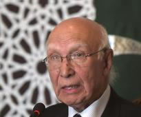 No conclusive proof on alleged Indian spy, says Sartaj Aziz: Reports
