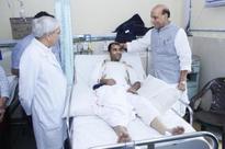 HM Rajnath Singh meets constable injured in terrorist encounter