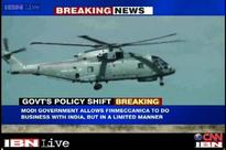 Centre allows Finmeccanica, Agusta Westland to do business in India albeit in a limited capacity