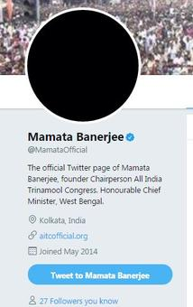 Demo anniv: Mamata protests with black Twitter pic