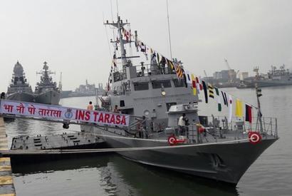 INS Tarasa joins the Indian Navy