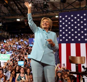 She makes 'HISTORY'! Hillary wins Democratic nomination for US president