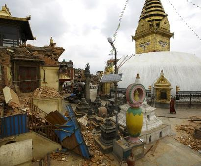 Nepal quake damages world's oldest Buddhist shrine
