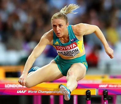 PHOTOS World Athletics: Pearson roars to world 100m hurdles gold