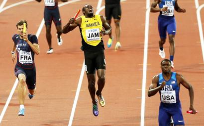 PHOTOS: Injury floors Bolt and ruins final farewell