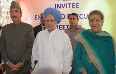 Manmohan Singh-led Congress delegation visits J-K