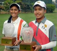 India wins junior golf team titles