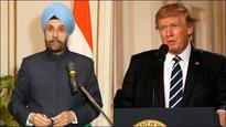 Indian envoy to US Navtej Sarna meets Donald Trump in Oval Office