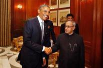Mukherjee hosts Obama to sumptuous dinner